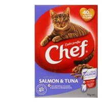Chef Dry Cat Food Salmon & Tuna box 1kg - buy online at countdown.co.nz