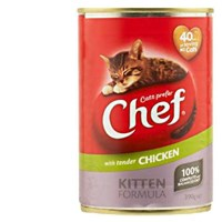 Chef Kitten Formula Cat Food Tender Chicken can 390g - buy online at countdown.co.nz