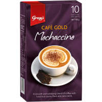 Greggs Cafe Gold Coffee Mix Mochaccino box 10 sachets - buy online at countdown.co.nz