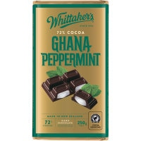Whittakers Chocolate Block 72% Cocoa Peppermint