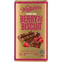 Whittakers Chocolate Block Berry & Biscuit