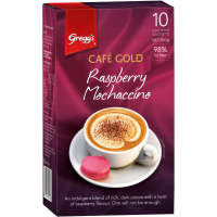 Greggs Cafe Gold Coffee Mix Raspberry Mochaccino 200g box 10 sachets - buy online at countdown.co.nz