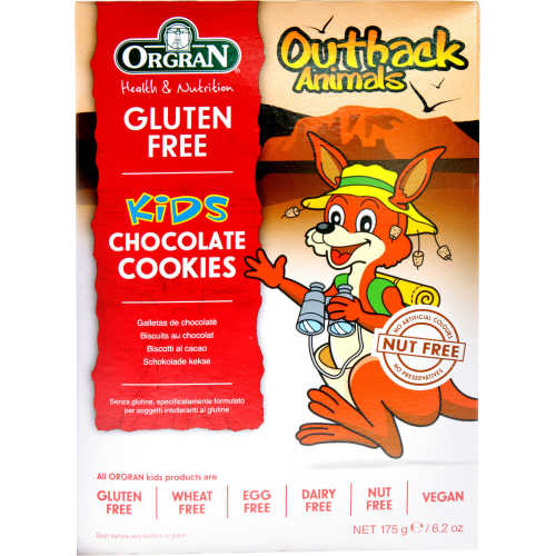 Orgran Outback Animals Cookies Chocolate Gluten Free 175g - buy online at countdown.co.nz