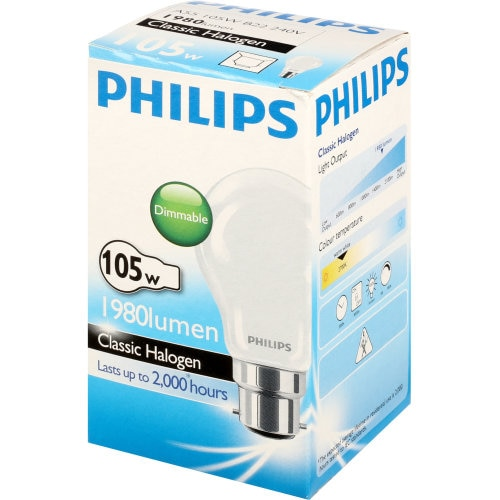 Philips Eco Classic Bayonet Light Bulb 105w Frosted Halogen 1pk - buy online at countdown.co.nz