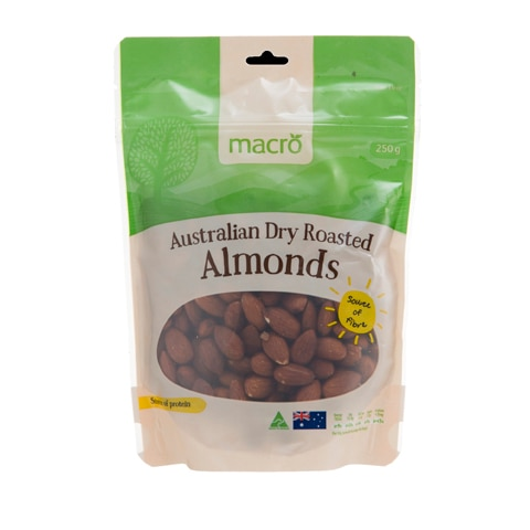 Macro Almonds Dry Roasted 250g - buy online at countdown.co.nz