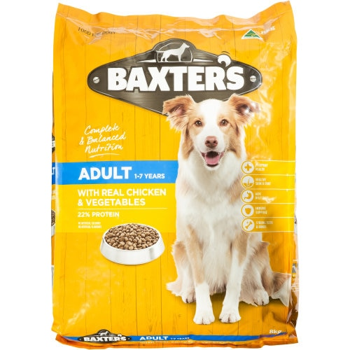 Baxters Dry Dog Food Chicken & Veggies 8kg - buy online at countdown.co.nz