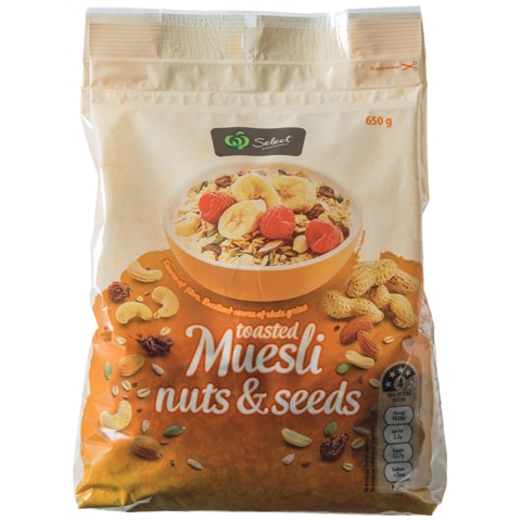 Select Toasted Nut Muesli & Seeds 650g - buy online at countdown.co.nz