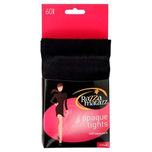 Razzamatazz Opaques Pantyhose Tall Black 60 Denier Tall/xtall 2pk - buy online at countdown.co.nz