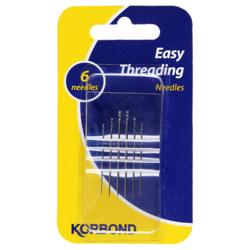 Korbond Needles Easy Threaad 6pce - buy online at countdown.co.nz