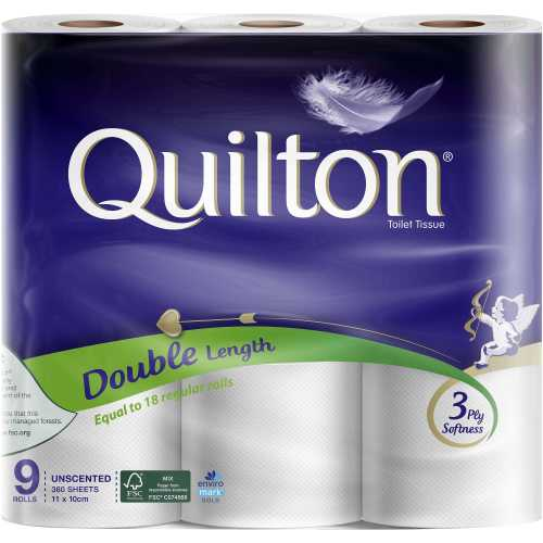 Quilton Toilet Paper 9pk White Double Length 9pk - buy online at countdown.co.nz