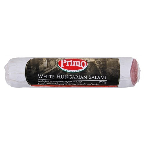 Instore Deli Primo Salami Stick White Hungarian prepacked 250g - buy online at countdown.co.nz