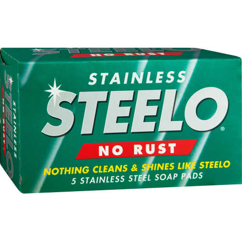 Steelo Scourer No Rust Stainless Steel Pads 5pk - buy online at countdown.co.nz