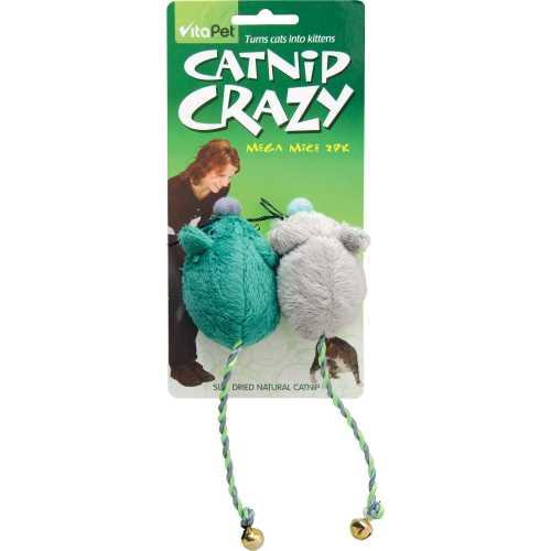 Vitapet Cat Toys Crazy Mice  Catnip 2pk - buy online at countdown.co.nz