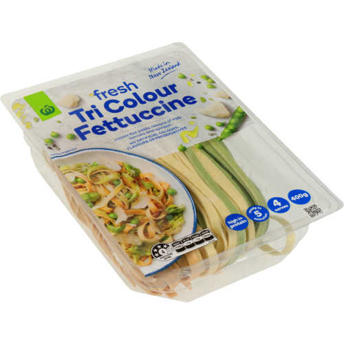 Countdown Chilled Flat Pasta Tricolour Fettuccine 400g - buy online at countdown.co.nz