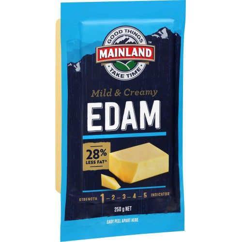 Mainland Cheese Block Edam 250g - buy online at countdown.co.nz