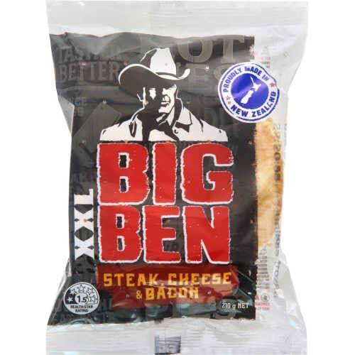 Big Ben Xxl Chilled Single Pie Steak Bacon & Cheese 210g - buy online at countdown.co.nz