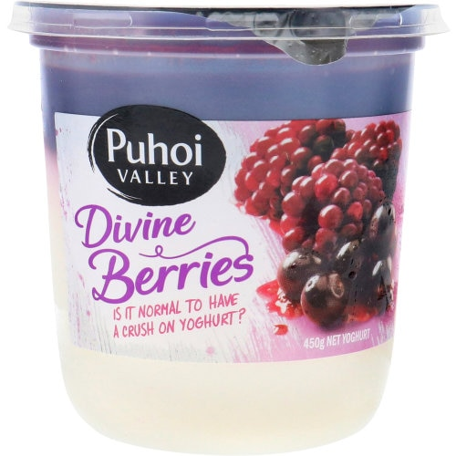 Puhoi Valley Yoghurt Tub Divine Berries 450g - buy online at countdown.co.nz
