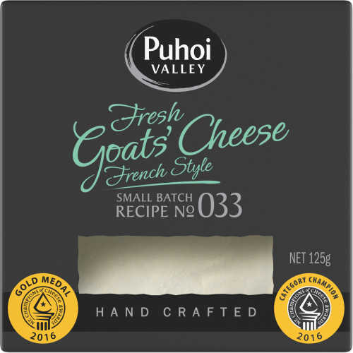 Puhoi Valley Fresh Cheese Goats Milk 125g - buy online at countdown.co.nz