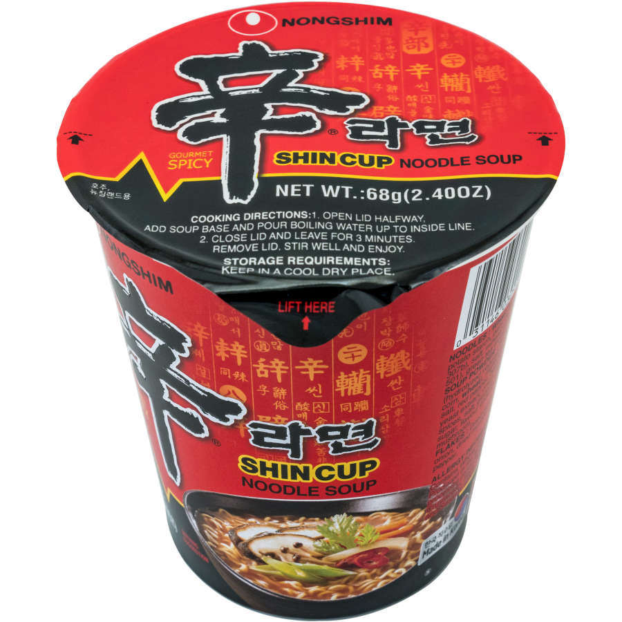 Nong Shim Instant Noodles Cup Shin Ramyun 68g - buy online at countdown.co.nz
