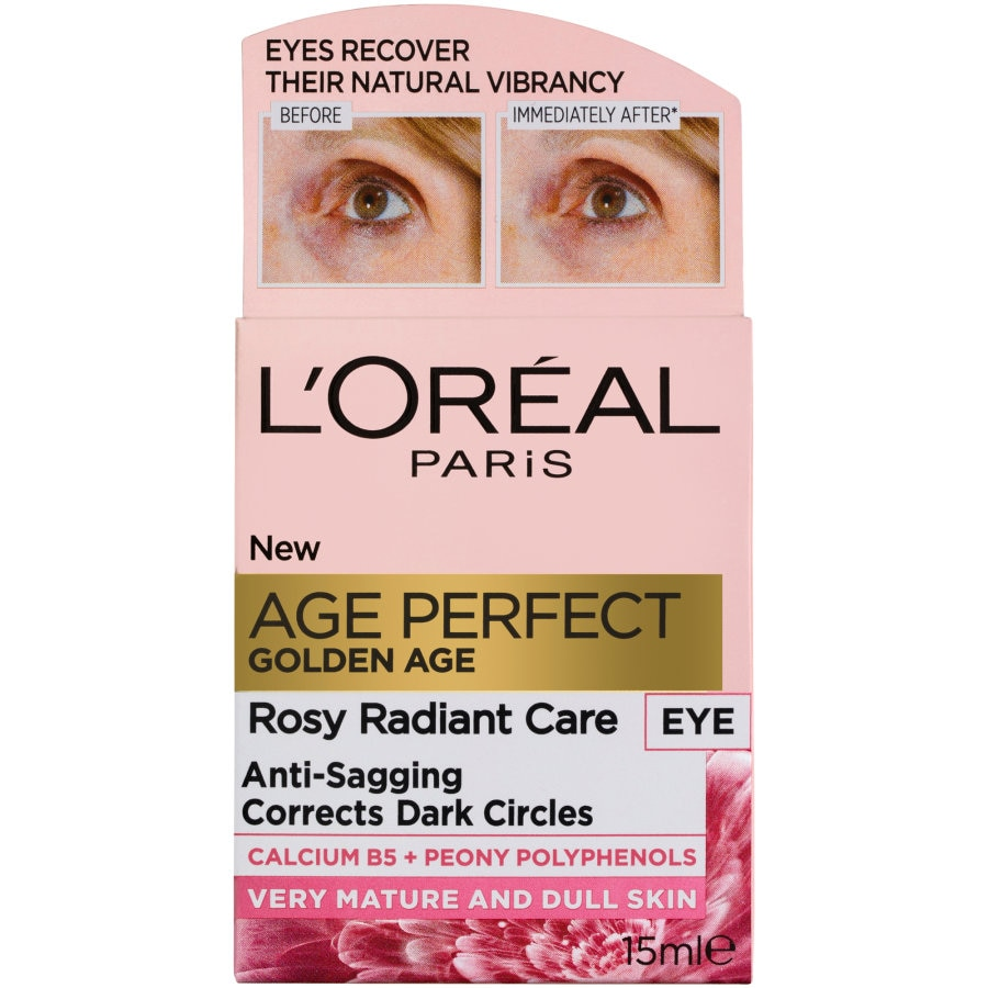 Loreal Age Perfect Golden Age Eye Cream Rosy Radiant Care 15ml - buy online at countdown.co.nz