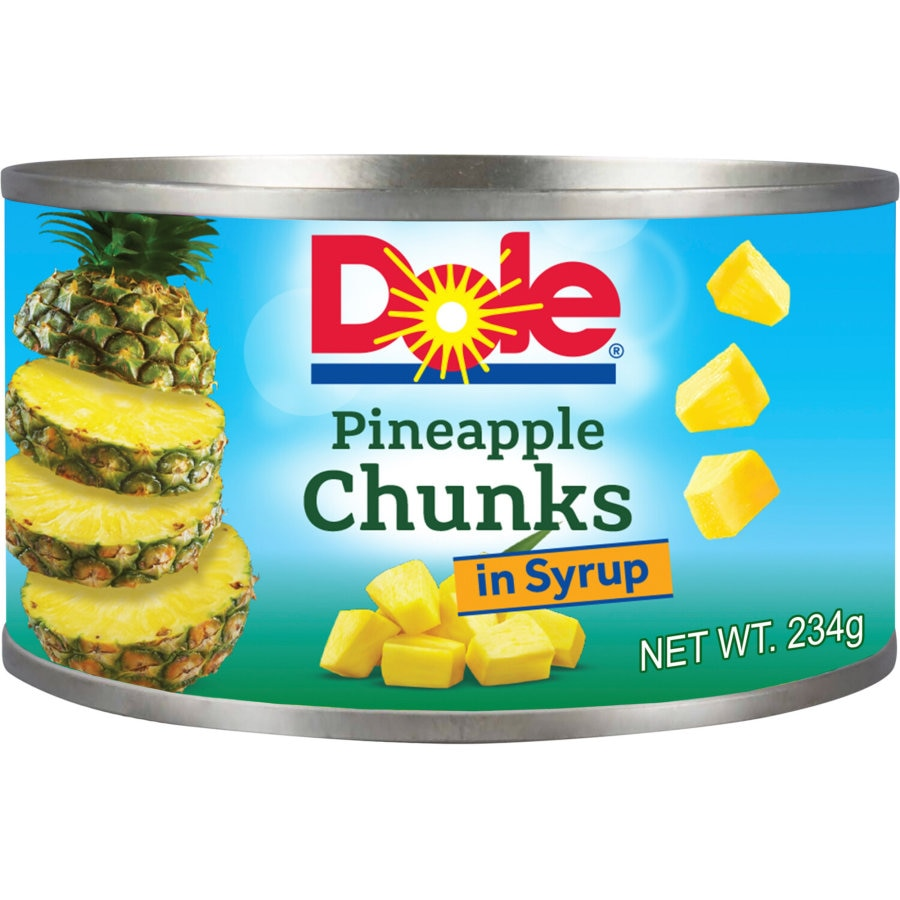 Dole Pineapple Chunks In Syrup tin 234g - buy online at countdown.co.nz