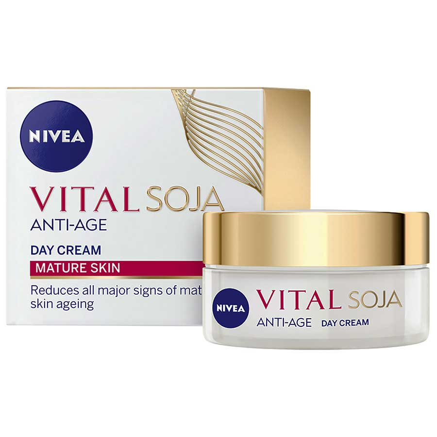 Nivea Vital Multi Active Anti Ageing Cream Triple Action Day Creme 50ml - buy online at countdown.co.nz