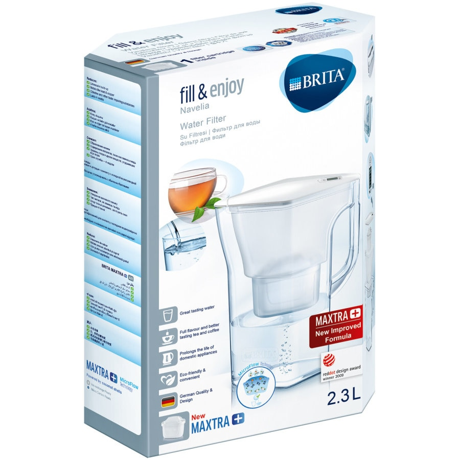 Brita Navelia Water Filter Jug Space Saver each - buy online at countdown.co.nz