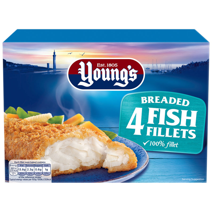 Youngs Fish Fillets Breaded 400g 4pk - buy online at countdown.co.nz