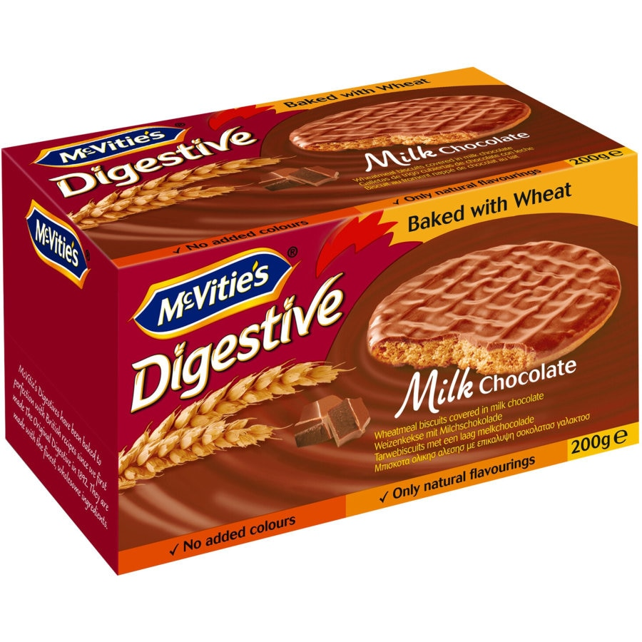 Mcvities Digestive Chocolate Biscuits Milk Chocolate 200g - buy online at countdown.co.nz
