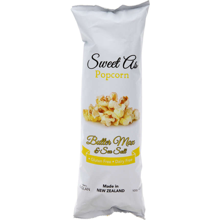Sweet As Popcorn Butter & Sea Salt 100g - buy online at countdown.co.nz