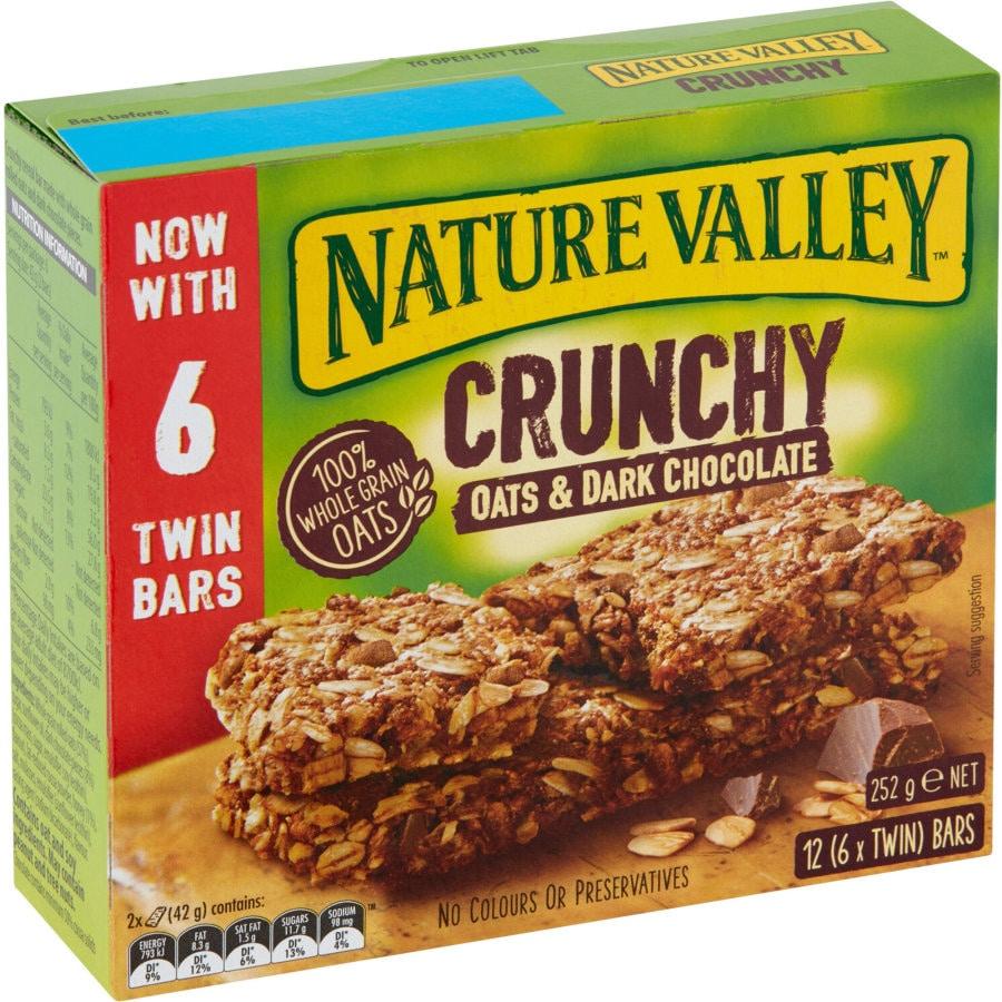 Nature Valley Crunchy Muesli Bars Oats & Dark Chocolate 252g twin packs 6pk - buy online at countdown.co.nz