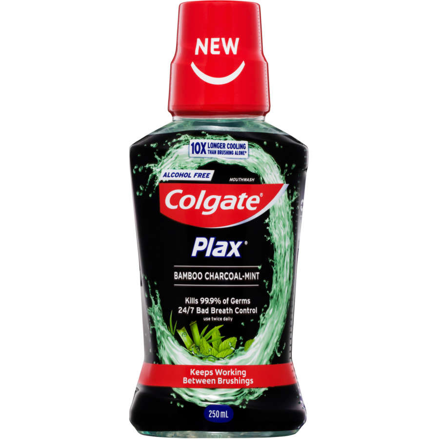 Colgate Plax Mouth Rinse Bamboo Charcoal Mint 250ml - buy online at countdown.co.nz