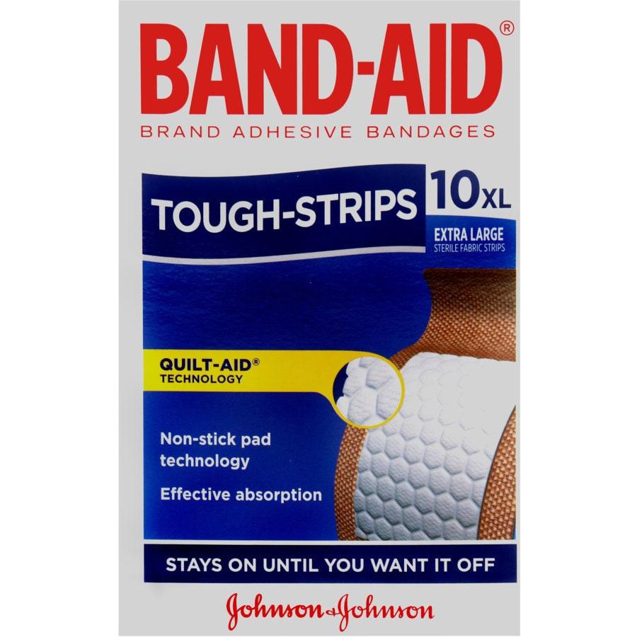 Band Aid Tough Strip Plasters, XL, 10pk