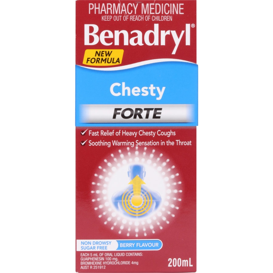 Benadryl Chesty Forte Cough Syrup, 200ml