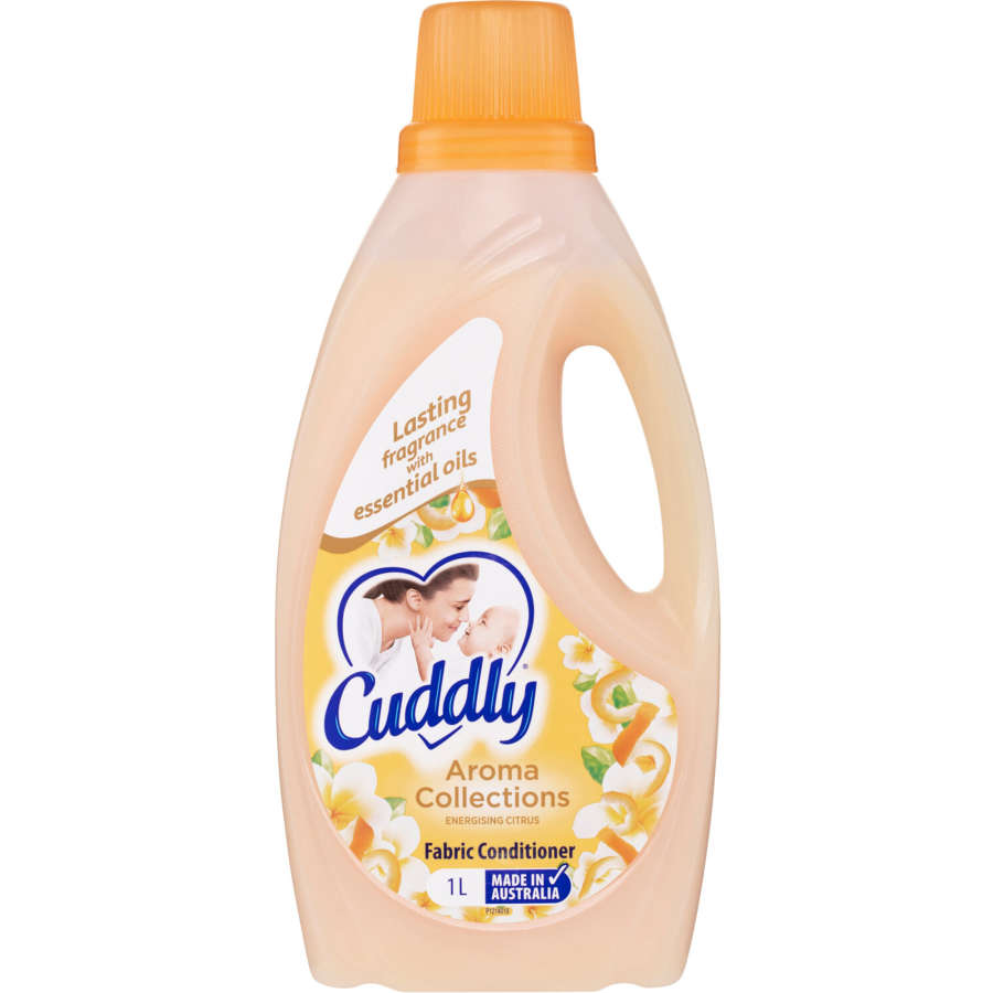 Cuddly Aroma Collections Fabric Softener Energising Citrus bottle 1l - buy online at countdown.co.nz