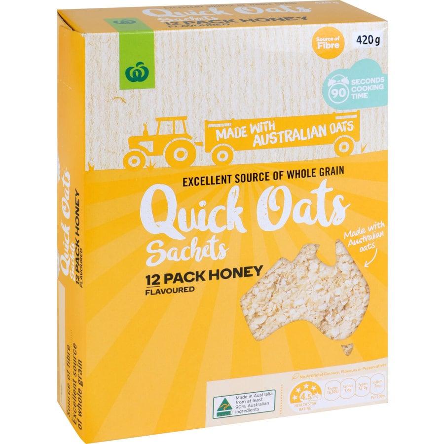 Countdown Quick Oats Honey 420g sachets 12pk - buy online at countdown.co.nz