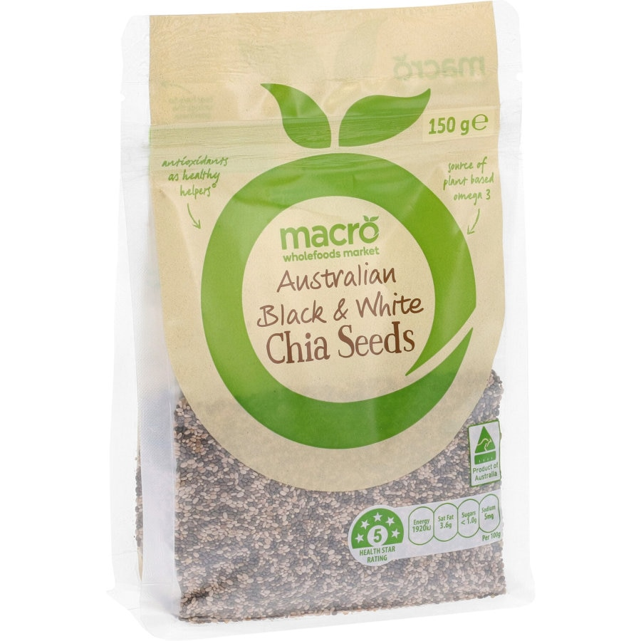 Macro Chia Seeds Mixed Black & White 150g - buy online at countdown.co.nz
