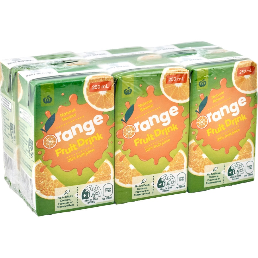 Countdown Fruit Drink 35% Orange 250ml cartons 6pk - buy online at countdown.co.nz