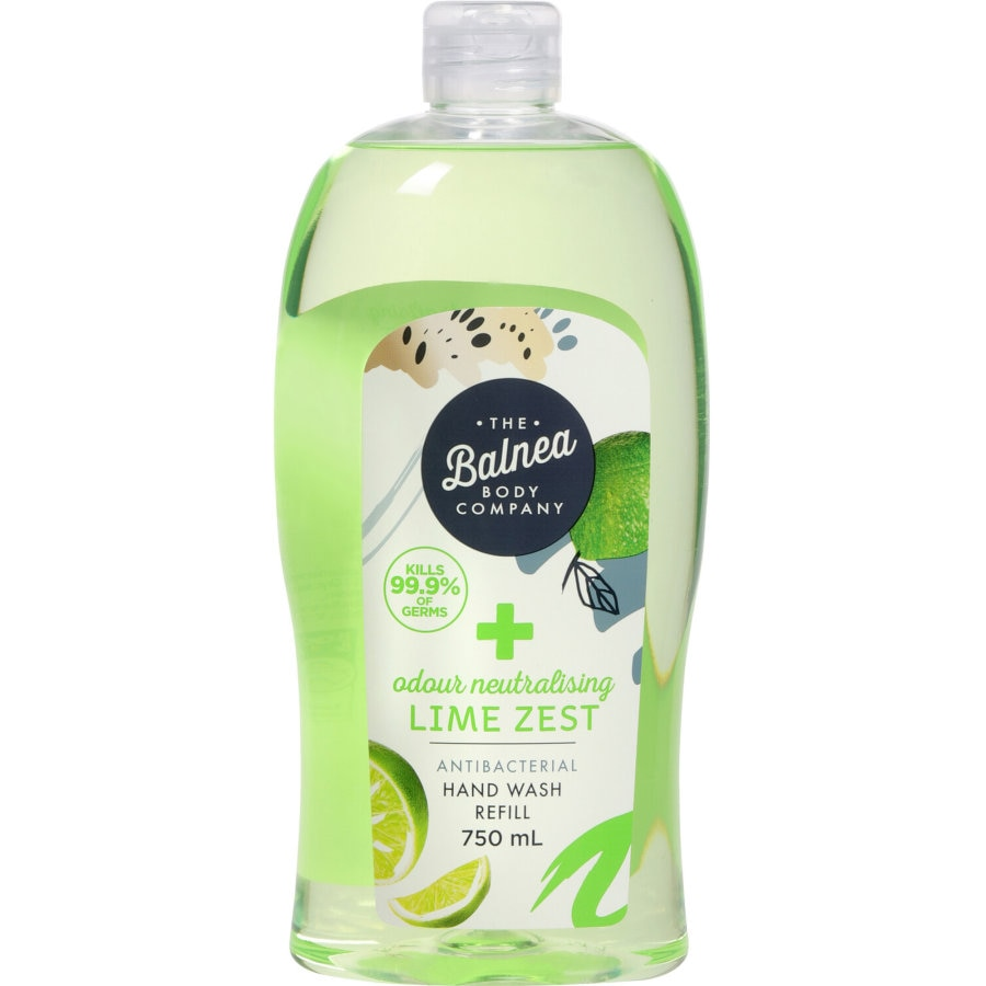 Balnea Hand Wash Antibacterial Lime refill 750ml - buy online at countdown.co.nz