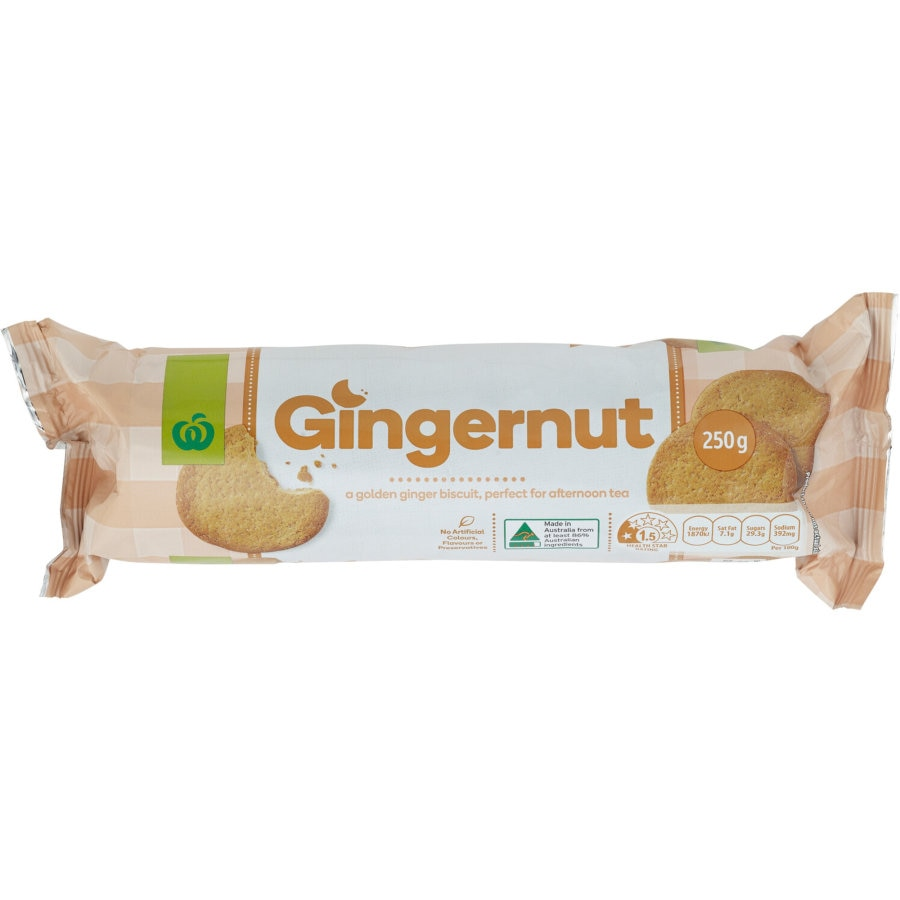 Countdown Plain Biscuits Gingernut 250g - buy online at countdown.co.nz