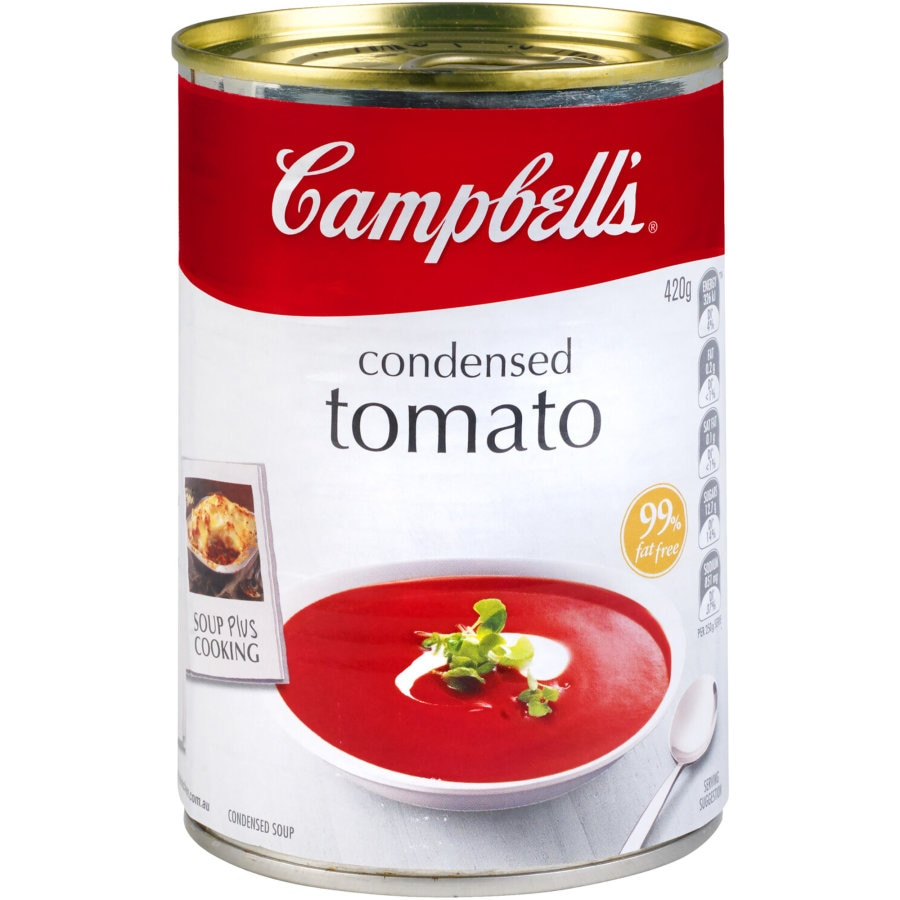 Campbells Canned Soup Tomato Condensed 420g - buy online at countdown.co.nz