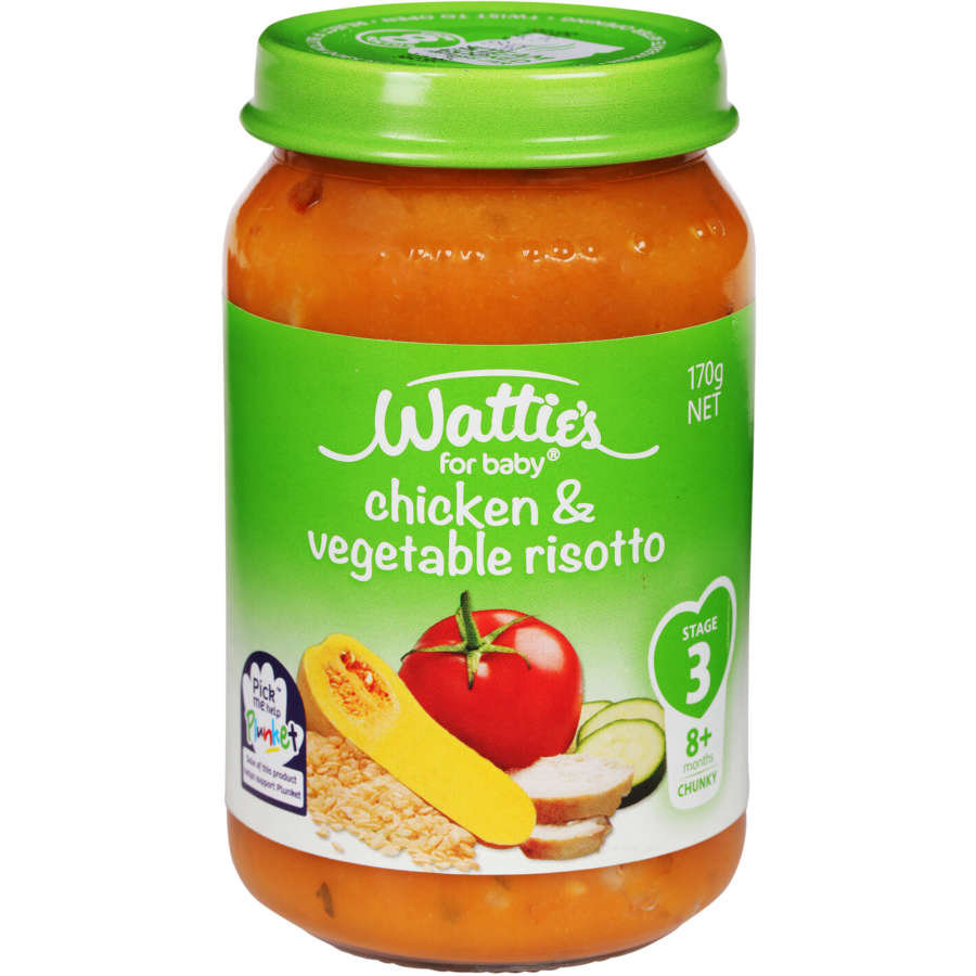 Watties Stage 3 Baby Food Chicken & Vege Risotto 170g - buy online at countdown.co.nz