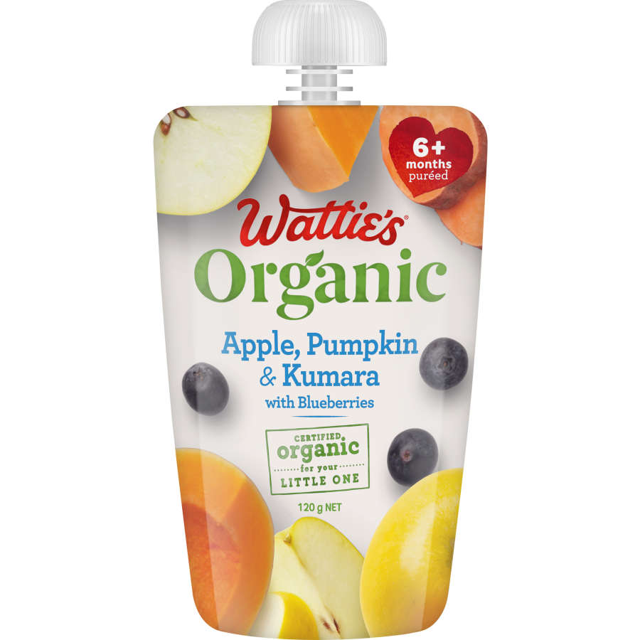 Watties Organic Baby Food Apple Pumkin & Kumara 120g - buy online at countdown.co.nz