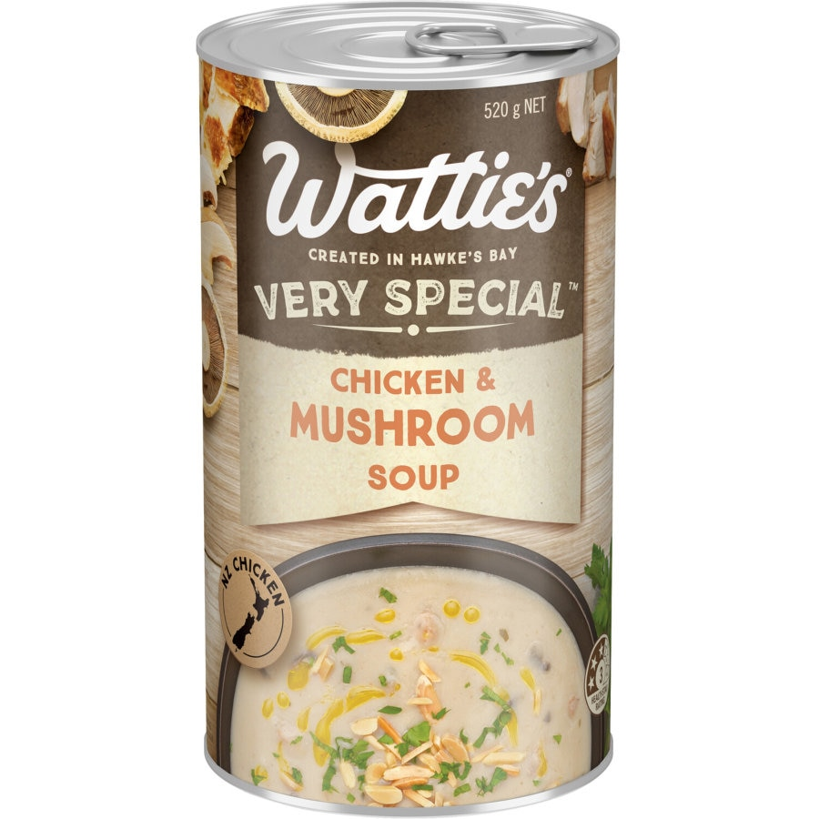 Watties Very Special Canned Soup Mushroom & Chicken 535g - buy online at countdown.co.nz