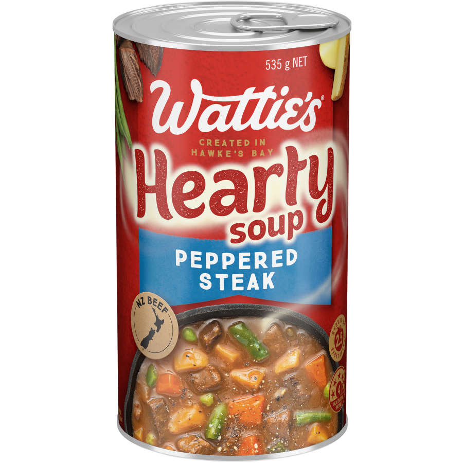 Watties Big N Hearty Canned Soup Peppered Steak 535g - buy online at countdown.co.nz