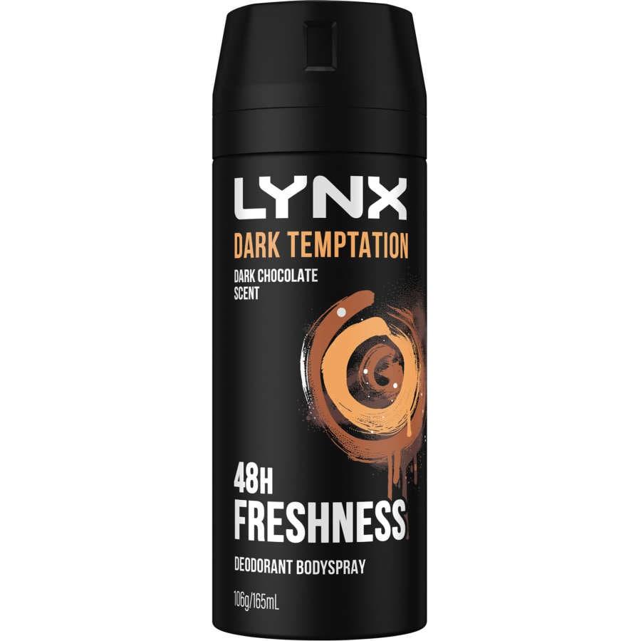 Lynx Anti-pers Aerosol Dark Tempt 165ml - buy online at countdown.co.nz