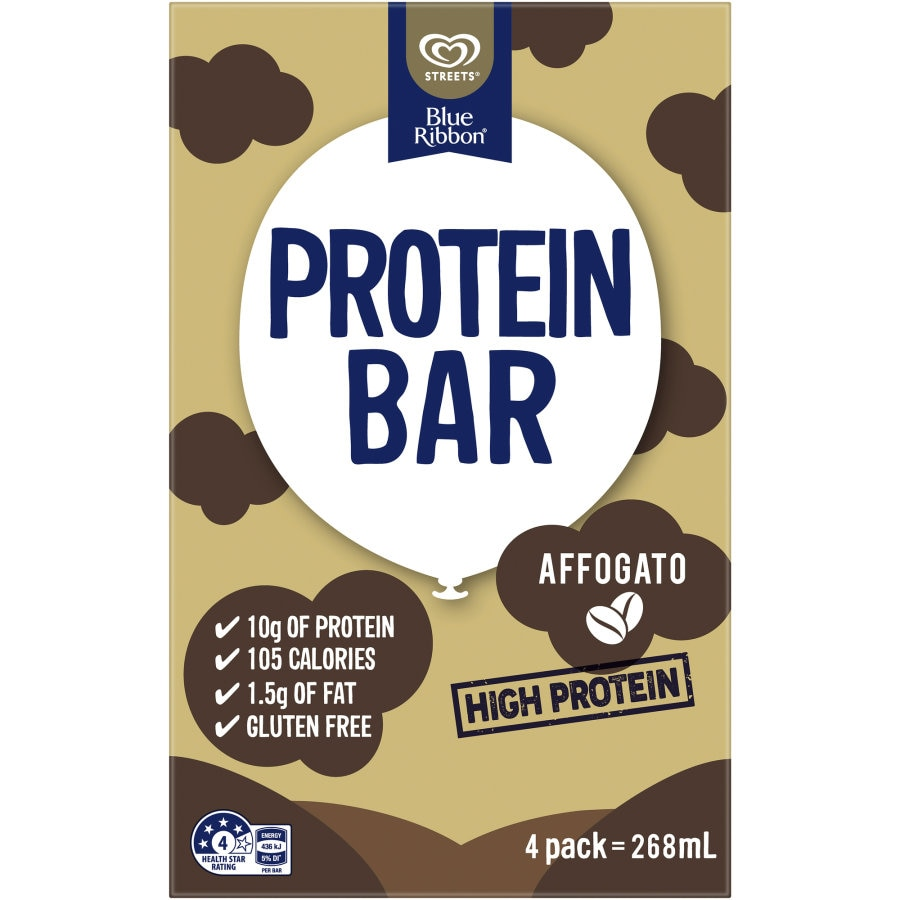 Blue Ribbon Ice Cream On Stick Affogato Protein Bar 4pk - buy online at countdown.co.nz