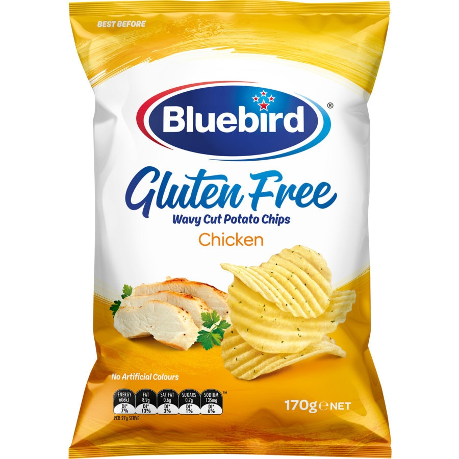 Bluebird Gluten Free Potato Chips Chicken 170g - buy online at countdown.co.nz