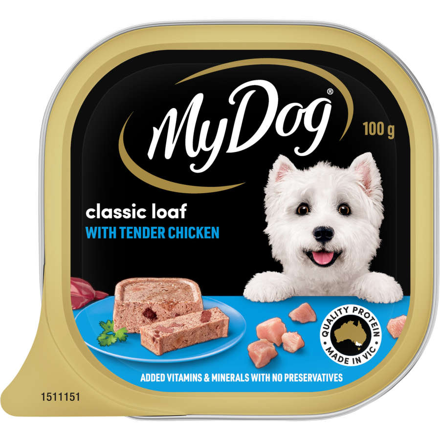 My Dog Wet Dog Food Chicken Supreme Meaty Loaf tray 100g - buy online at countdown.co.nz