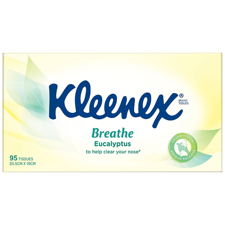 Kleenex Extra Care Tissues Eucalyptus box 95pk - buy online at countdown.co.nz